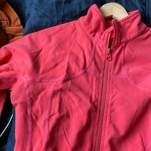 Lululemon Salmon Pink Zip-up Jacket